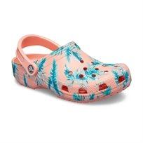 Crocs Classic Seasonal Graphic Clog - נעלי קלוג קלאסיות בהדפס קייצי בצבע מלוןטרופי