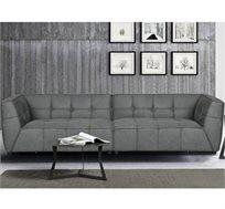 ספה מעוצבת רחבה בריפוד בד דמוי עור הפוך HOME DECOR דגם BRENDA