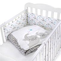 סט מצעים 3 חלקים למיטת תינוק 100% כותנה - פילון