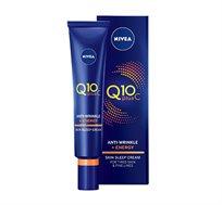 קרם לילה Q10 Plus C תורם למראה עור נמרץ ורענן ניוואה + מסכת הזנה מתנה