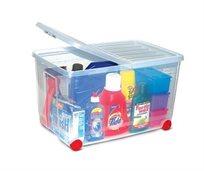 עושים סדר! ארגז אחסון 60 ליטר עם גלגלים לניוד קל עם מכסה לאחסון מגוון רחב של חפצים