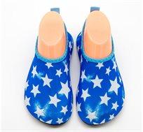 נעלי ים/בריכה לילדים דגם Skin Shoes כוכבים Premium Baby בצבע כחול