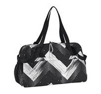 תיק נשיאה לנשים REEBOK STUDIO W GRAPH DUFFLE בצבעי שחור/לבן
