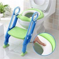 ישבנון מרופד לפעוט עם מונע החלקה ומונע התזה - כחול/ירוק