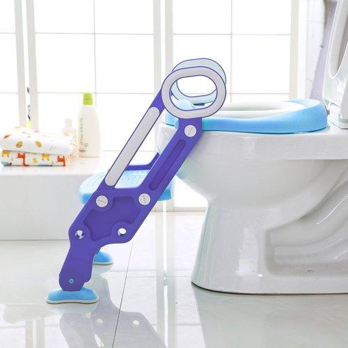 ישבנון מרופד לפעוט עם מונע החלקה ומונע התזה - כחול/ירוק - תמונה 3