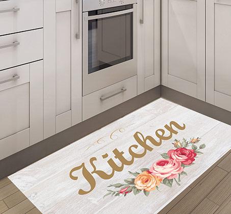 שטיח PVC במגוון גדלים אידיאלי לשימוש במטבח דגם מטבח רומנטי פיין גיפטס - תמונה 2