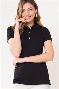 חולצת פולו לנשים - שחור