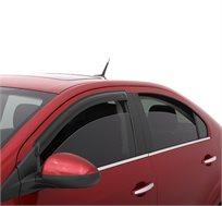 סט מגני רוח נצמדים לחלון הרכב, לפתיחת החלון ללא חדירה של גשם