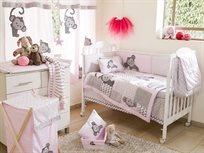 סט מצעים 3 חלקים למיטת תינוק קופיף בורוד