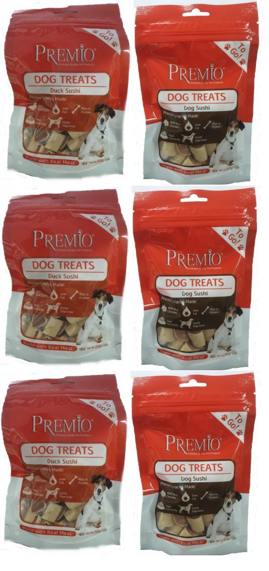 6 חטיפי פרימיו 60 גרם לכלב במבצע