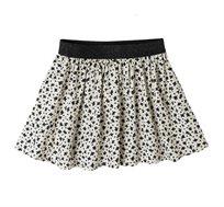 חצאית קצרה - שמנת פרחים