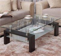 שולחן סלוני BRADEX דו קומתי עשוי זכוכית