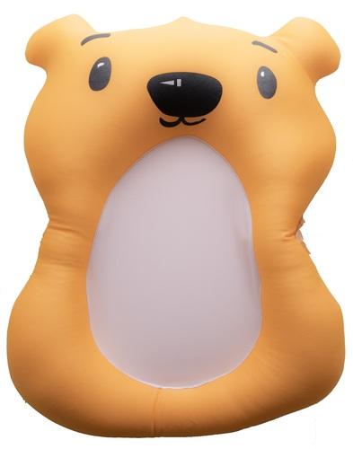 מודרניסטית צפטף - כרית אמבטיה לתינוק עם לולאת תליה לייבוש - דובי כתום CW-45