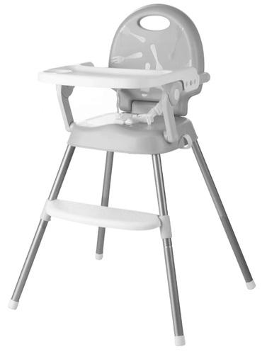 כיסא אוכל רב שלבי 3 ב 1 הופך לבוסטר, 2 מצבי גובה ומגש - אפור