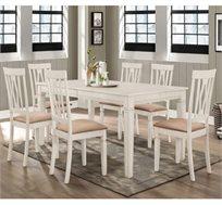 פינת אוכל נפתחת מעץ מלא משולב כוללת שולחן ו-6 כסאות דגם מטיס