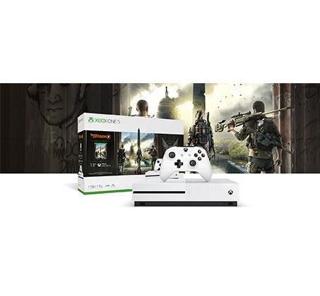 קונסולה Microsoft Xbox One S נפח 1TB+משחק  The Division 2 וחבילת מייסדים Apex Legends יבואן רשמי - משלוח חינם - תמונה 2