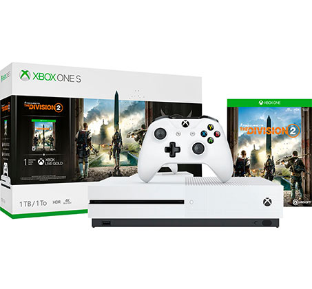 קונסולה Microsoft Xbox One S נפח 1TB+  משחק  The Division 2 יבואן רשמי