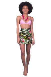 חצאית טרופית ירוקה