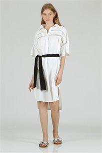 שמלה רומי לבן - CUBiCA