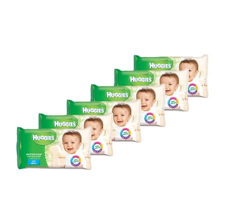 48 חבילות מגבוני Huggies ללא בישום לשמירה על עור עדין  - תמונה 2
