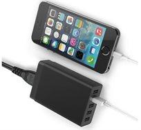 מטען USB עוצמתי עם 5 כניסות 8A בעוצמה של 40W להטענה של עד 5 סמארטפונים/טאבלטים בו זמנית