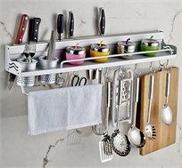 מדף אחסון למטבח לתליה על הקיר