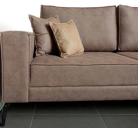 ספה פינתית גדולה דגם אלמאס בסגנון מודרני עכשווי במגוון צבעים וסוגי בד לבחירה VITORIO DIVANI - משלוח חינם - תמונה 3
