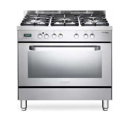 """תנור משולב כיריים 90 ס""""מ 5 להבות Delonghi דגם NDS939"""