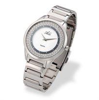 שעון יד לאישה מבית המותג ADI - עשוי כצמיד מוכסף עם זכוכית ספיר העמידה בפני שריטות