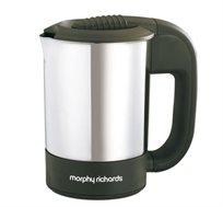 קומקום טיולים+2 כוסות Morphy Richards בקיבולת 0.5 ליטר ובעל גוף חימום נסתר 43042T מתצוגה