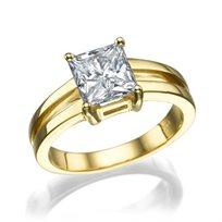 """טבעת יהלום """"קרולינה"""" זהב צהוב 1.51 קראט"""