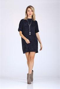 שמלה מיני שרוול קצר -