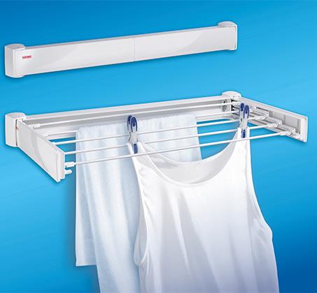 מתקן לייבוש כביסה נשלף מתאים לחדר האמבטיה ולמרפסת דגם 30 Telegant Protect מבית LEIFHEIT - תמונה 2