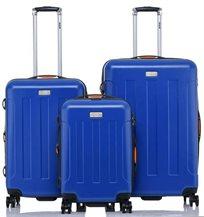 JEEP MIAMI סט 3 מזוודות קשיחות Deep Blue