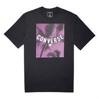 Converse גברים// חולצה תמונה עצי דקל שחורה