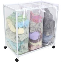 סל כביסה איכותי מחולק ל- 3 תאים ומאפשר למיין את הכביסה לפי צבע או סיווג - משלוח חינם!