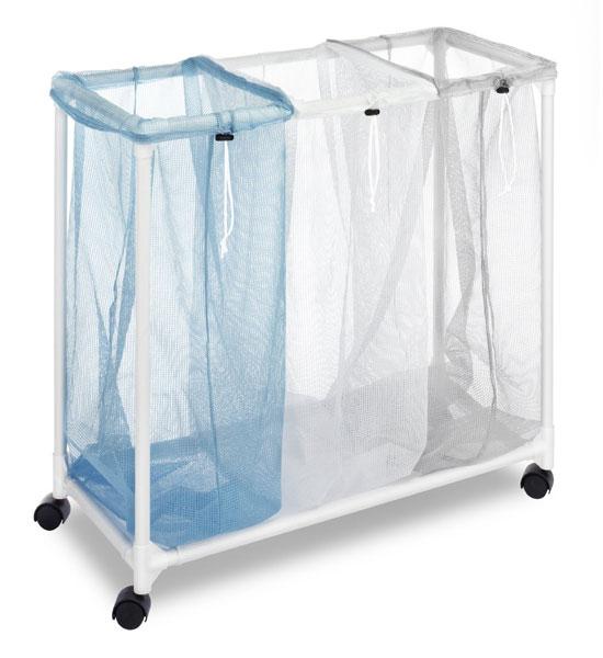 מגה וברק סל כביסה איכותי מחולק ל- 3 תאים ומאפשר למיין את הכביסה לפי צבע או QY-74