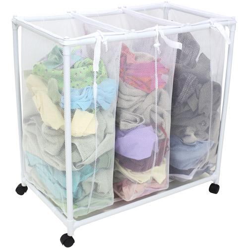 מרענן סל כביסה איכותי מחולק ל- 3 תאים ומאפשר למיין את הכביסה לפי צבע או MQ-81