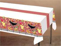 """על האש! 8 מפת שולחן חד פעמית מנייר איכותי ומתכלה מדגם """"ברביקיו"""""""