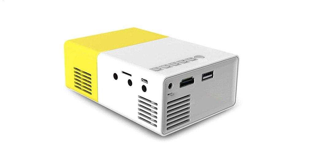 מקרן מולטימדיה נייד HD עוצמתי, עד 80 אינץ' בטכנולוגיית LED כולל שלט רחוק וסוללה נטענת חיבור HDMI  - משלוח חינם - תמונה 4