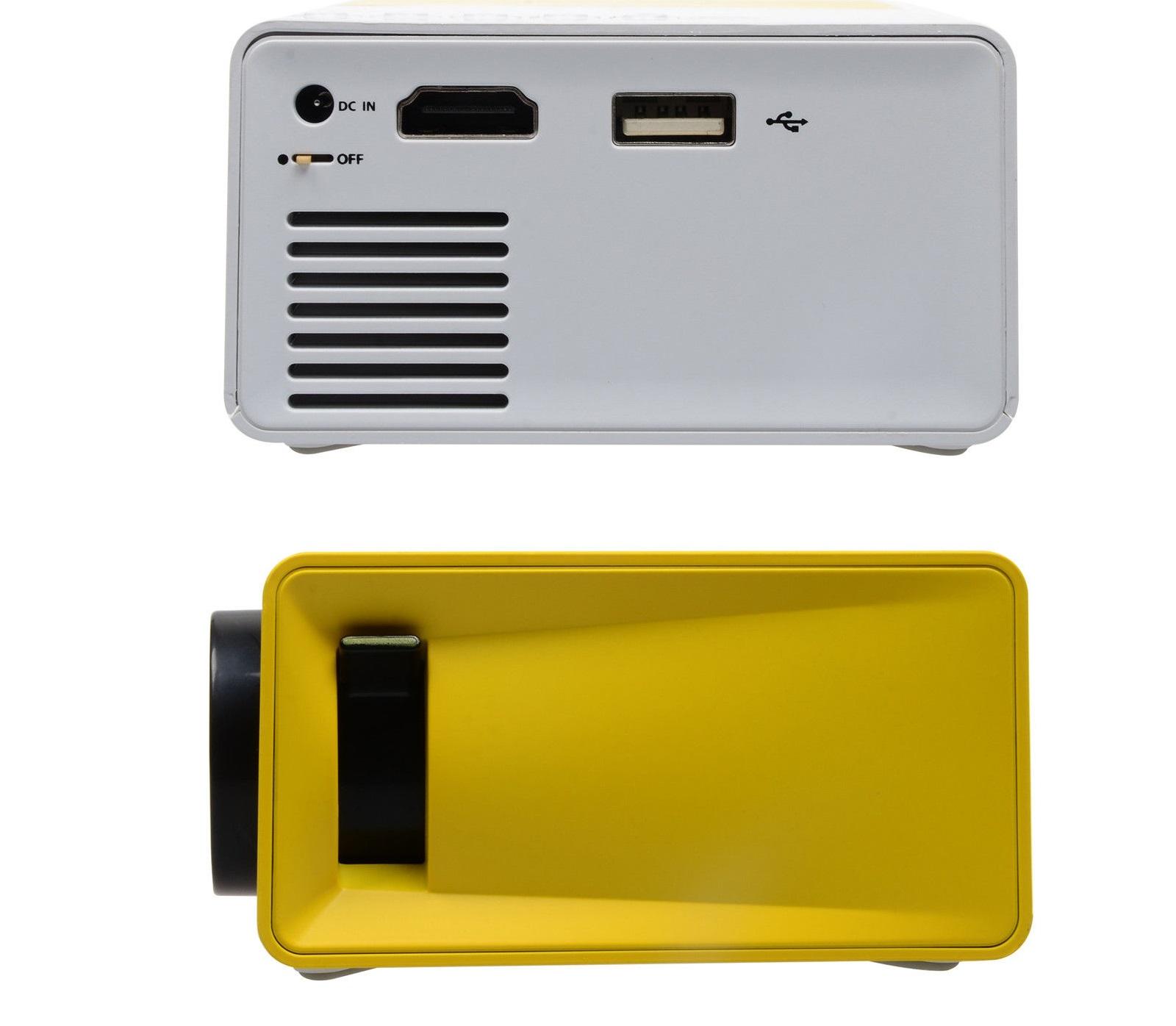 מקרן מולטימדיה נייד HD עוצמתי, עד 80 אינץ' בטכנולוגיית LED כולל שלט רחוק וסוללה נטענת חיבור HDMI  - משלוח חינם - תמונה 3