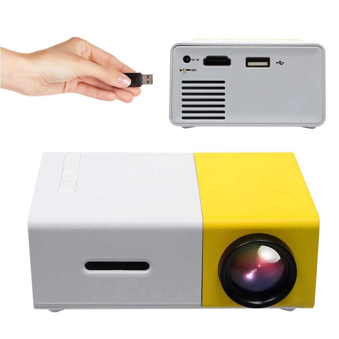 מקרן מולטימדיה נייד HD עוצמתי, עד 80 אינץ' בטכנולוגיית LED כולל שלט רחוק וסוללה נטענת חיבור HDMI  - משלוח חינם - תמונה 2