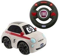 מכונית חשמלית עם שלט אלחוטי ואפקטים קוליים FIAT 500