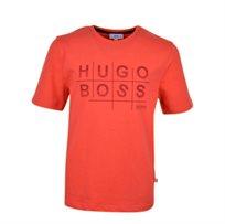 BOSS / בוס חולצת טריקו אפליקציה - אדום