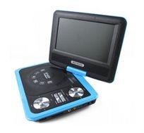 "DVD נייד 7"" עם יציאת USB וכרטיס זכרון לצפייה בשלל פורמטים + 300 משחקים וג'ויסטיק מתנה!"