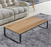 שולחן סלון מודרני מעץ בשילוב ברזל שחור דגם RAQUEL
