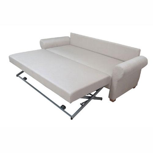 ספה תלת מושבית נפתחת למיטה זוגית עם מנגנון על קל מרופדת בבד מיקרופייבר דגם פדובה OR design - תמונה 2