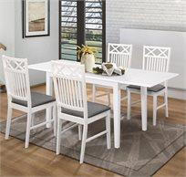פינת אוכל נפתחת מעוצבת דגם EVERTON עשויה עץ הכוללת 6 כיסאות - משלוח חינם