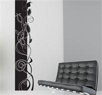 מדבקת קיר - סטריפ מודרני, יוצרת פס רציף של דוגמא לאורך או רוחב הקיר