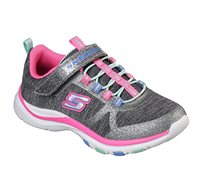 נעלי ספורט לילדות - אפור ורוד